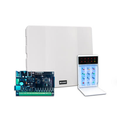 PC-900G-LED Panel de alarma Garnet con WiFi embebido, 32 Zonas, 4 Particiones, incluye teclado LED